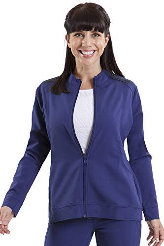 healing hands Purple Label Women's Dakota 5038 Zip Up Scrub Jacket Scrubs- Navy- XS