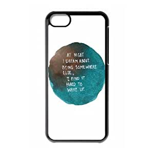 iPhone 5c Cell Phone Case Black quotes dream at night being someone else SLI_500801