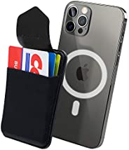 Sinjimoru Magnetic Wallet for Apple MagSafe Wallet, Magnetic Phone Wallet Stick on as Detachable Phone Card Ho
