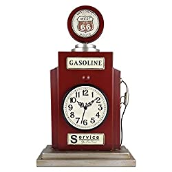 Ashton Sutton Gas Pump Shaped Table Clock with Metal Case