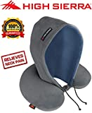 High Sierra HS1370 \ Hoodie Travel Pillow \ Block Out Light \ Sleep Deeper on Flights & Road Trips \ 100% Pure Memory Foam \ Relieves Painful Pressure Points \ Provides Exceptional Neck Support