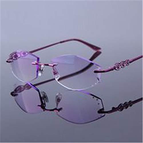Película Marco Modelos Sin A Anti Recorte 100 Espejo Komny Lectura Viejo Telescopio Diamante Púrpura Diamantes 200 Más Gafas fatiga A Femeninos De 6wxf4q