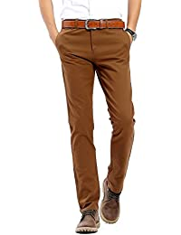 Men's Casual Pant Comfort Straight Leg Trousers 22-Color