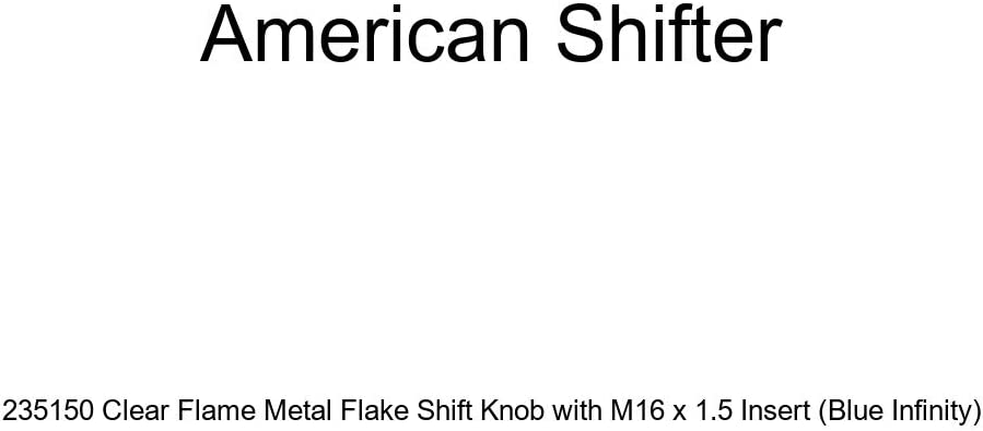 Blue Infinity American Shifter 235150 Clear Flame Metal Flake Shift Knob with M16 x 1.5 Insert