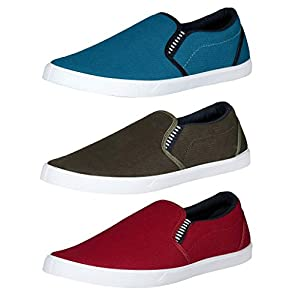 Chevit Men's Combo Pack of 3 Casual Shoes (Loafers Shoes)