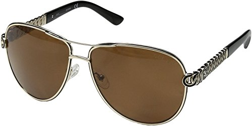 GUESS Women's Metal Polarized Aviator Sunglasses, 32D, 59 - Guess Protection Sunglasses Uv