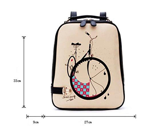 bolso de hombro del ms/versión coreana de la pequeña fresca/viento de la universidadpumochila/mochilas de dibujos animados-A A