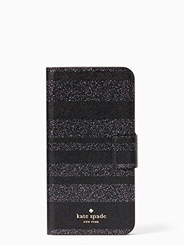 Kate Spade New York Black Glitter Stripe Folio Case for iPhone 7 Plus & iPhone 8 Plus by Kate Spade New York (Image #4)
