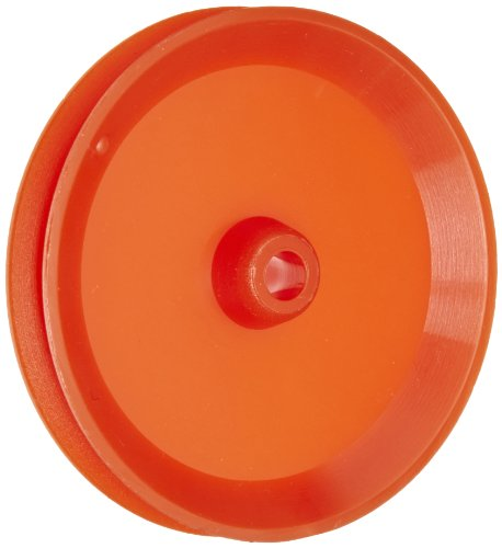 Ajax Scientific Plastic Loose Pulley, 38mm Diameter, 4mm Center Hole Diameter (Pack of 10) Plastic Shaft