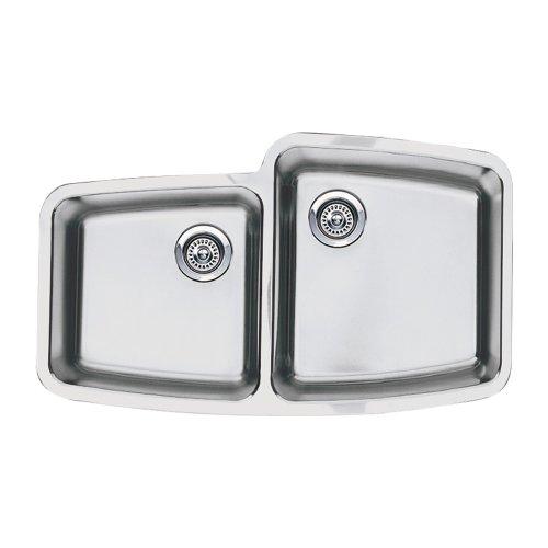 1.75 Medium Double Bowl - Blanco BL441003 Performa Medium 1-3/4-Inch Reverse Bowl Undermount Sink, Satin Polished