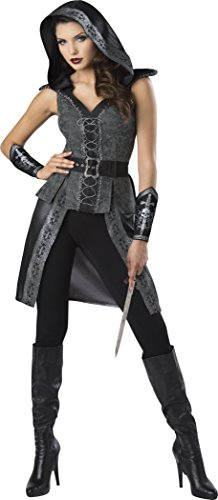 Fun World Women's Dark Woods Huntress, Grey/Black, L -