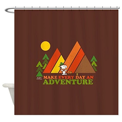 CafePress Snoopy-Make Every Day an Adventure Decorative Fabric Shower Curtain (69