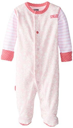 Kushies Baby Girls' Newborn Front Snap Sleeper Pink, 01 Month