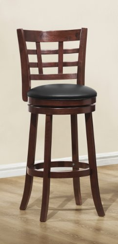 41mE2fxpoRL - Homelegance-1142E-29S-Swivel-Pub-Height-ChairStool-Dark-Cherry