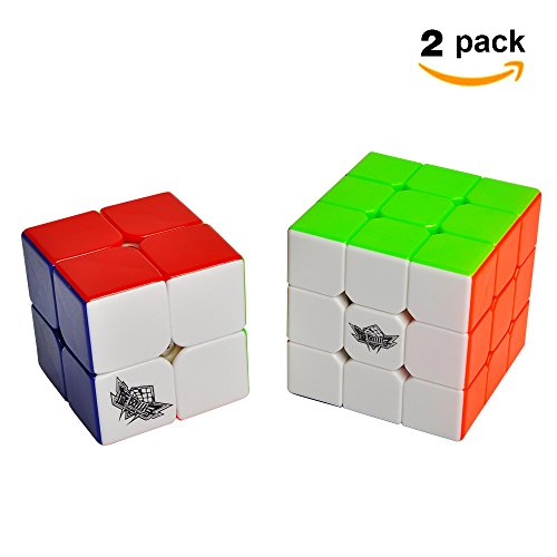 Cyclone Boys Speed Cube Set, Includes 2x2 3x3 Stickerless Magic Cube Puzzle