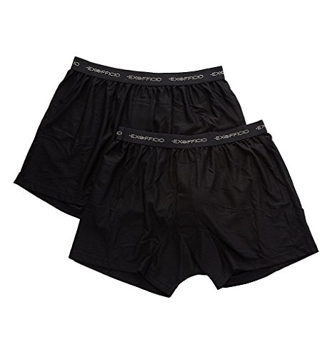 ExOfficio Give-N-Go Boxers - 2 Pack (2412337) L/Black
