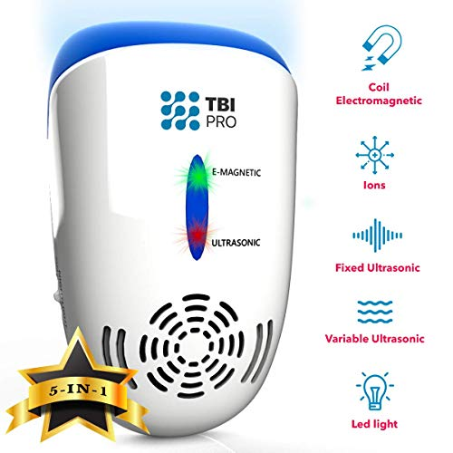 UPGRADED Ultrasonic Pest Repeller Wall Plug-in - Most Effective 2019 Electromagnetic & Ionic Indoor Anti Mouse, Ant, Mosquito, Cockroach Control - Safe & Quiet Device, Night Light - 2000 Sq. Ft (1)