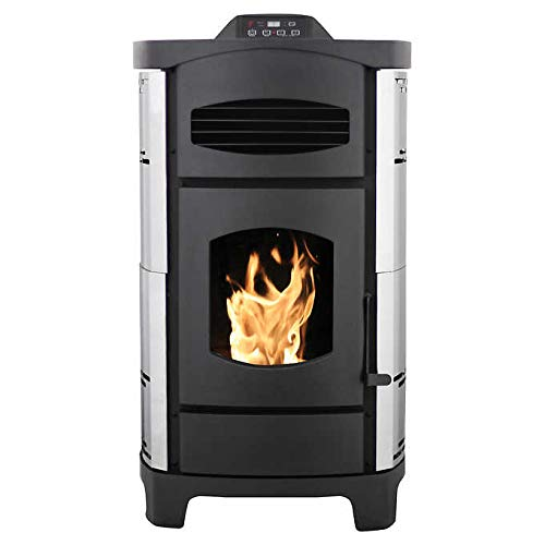 US Stove Ashley Polished Stainless Steel Pellet Stove