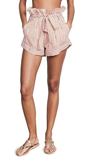 For Love & Lemons Women's Isla Striped Shorts, Stripe, Large by For Love & Lemons