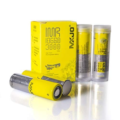 (MXJO IMR 3000 mAh 20A 3.7 V Battery-4 Pack)