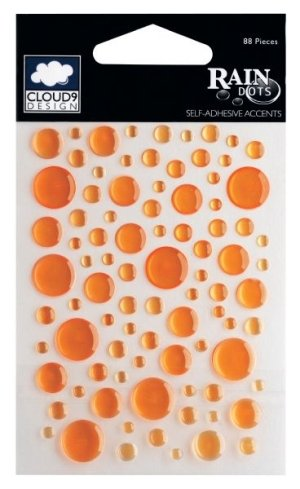 Rain Dots Original Stickers-Citrus (Orange) - Epoxy Rain Dots