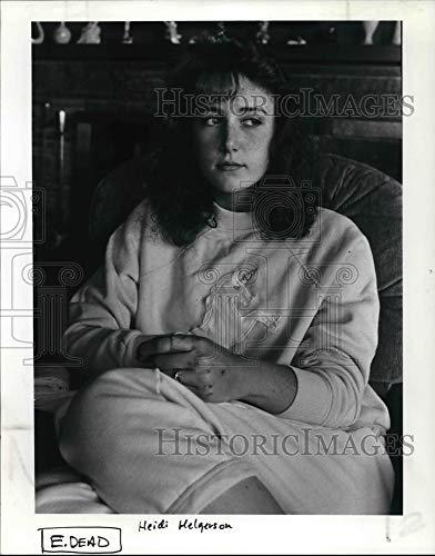 Historic Images - 1985 Press Photo Heidi Helgerson, Boyfriend Alex Brewster Died in car Accident (Best Friend Died In Car Accident)