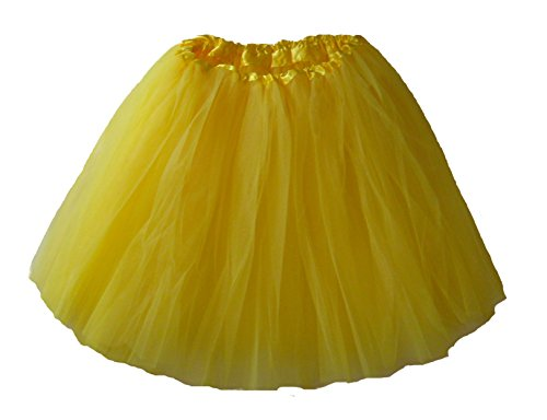Adult Ballet Tutu Waist 18-36 Length 16-17 by Southern Wrag Company (Yellow)
