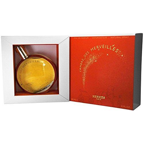 Hermes L'Ambre Des Merveilles for Women Eau De Parfum Spray, 3.3 Ounce Ambre Eau De Parfum