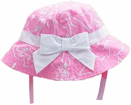 12e955ccbc3 Amazon.com  Summer Baby Girl Caps Cotton Sun Hat For 2-3 Years Baby Pink   Baby