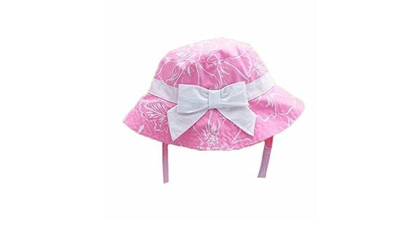 4c5c912fdfa Amazon.com  Summer Baby Girl Caps Cotton Sun Hat For 2-3 Years Baby Pink   Baby