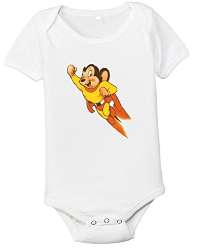 Mighty Mouse Baby Bodysuit (0-3 months) (Retro Mighty Mouse)