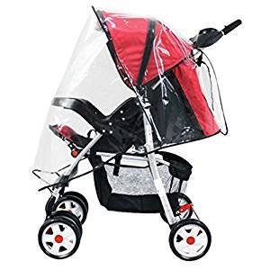 NiceButy Pram wildshield Protect Universal Pushchair Stroller Buggy Rain Cover fits hundreds of models,Universal Size
