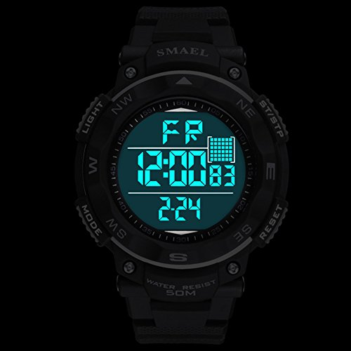 ETbotu Children LED Electronic Digital Luminous Multifunction PU Strap Waterproof Alarm Calendar watches by ETbotu (Image #2)
