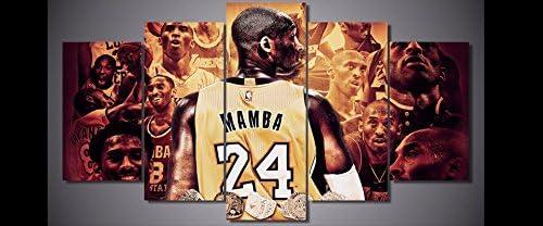 Michael Jordan Lebron James Kobe Bryant Superestrella del baloncesto Pintura Sport Star Home Decoraci/ón de la pared Poster Artwork 50x70cm Sin marco