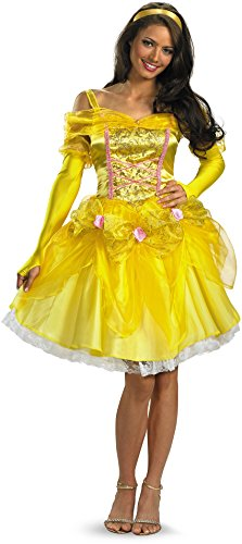 Disguise Disney Beauty And The Beast Sassy Belle Costume, Multi, (Disney Princess Belle Dress Adults)