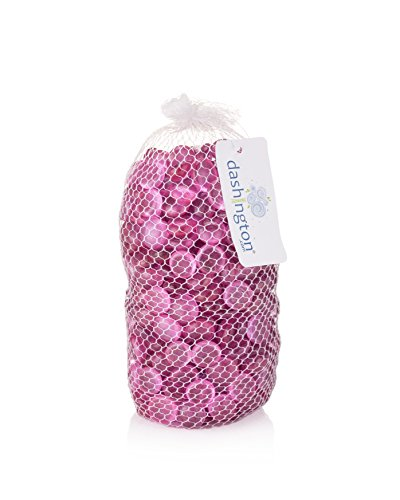 Pink Floral Glass (Dashington Flat Pink Marbles, Pebbles (5 Pound Bag/80oz) for Vase Filler, Table Scatter, Aquarium Decor, Gems)