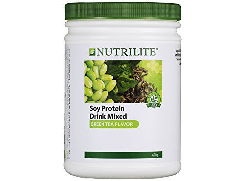 8 x Amway NUTRILITE Soy Protein Powder Mixed - Green Tea Flavor (450g) by Amway