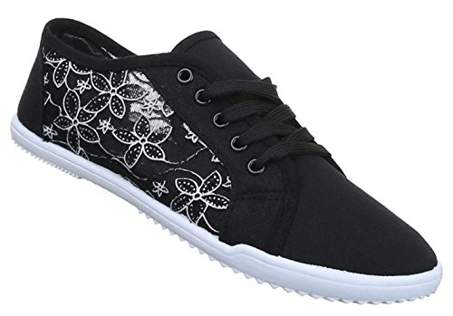 Damen Sneaker Halbschuhe Schnürer Freizeitschuhe Damen Schuhe 36 37 38 39 40 41