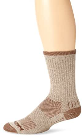 Wrightsock Double-Layer Adventure Cushion Crew Socks, Khaki Marl, 656, Small