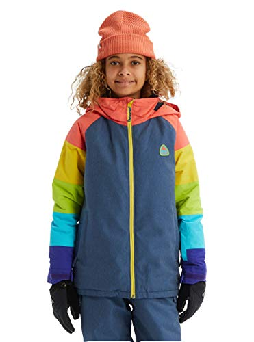 Burton Girls' Hart Jacket, Medium, Light Denim Multi, X-Small