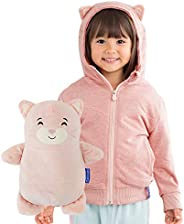 Cubcoats Kali The Kitty 2 in 1 Transforming Hoodie and Soft Plushie, Soft Pink