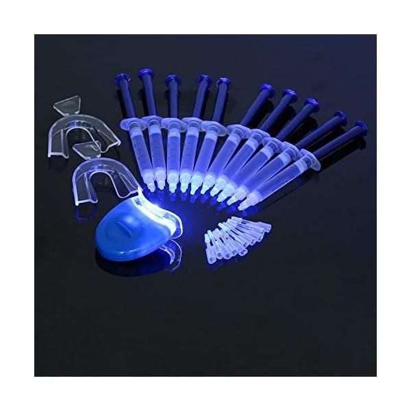 Equipo dental portátil profesional, 10 piezas, dientes blancos, sistema de blanqueamiento dental, blanqueador, kit de… 10