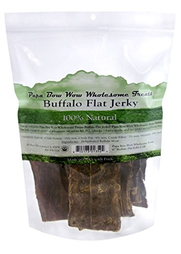 "Papa Bow Wow Wholesome Treats Buffalo Jerky, 6"" L, 1/2 Lb"