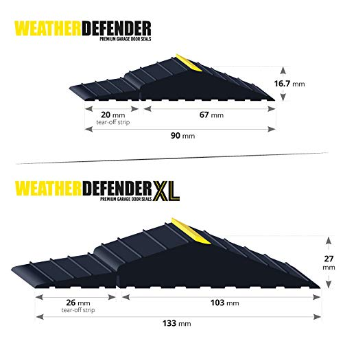 1.2m Guarnizione per porta da garage Premium Weather Defender