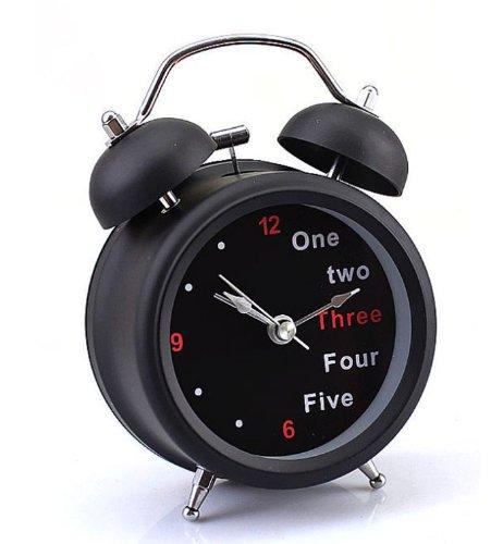 New Fashion Classic Retro Double Bell Desk Table Alarm Clock