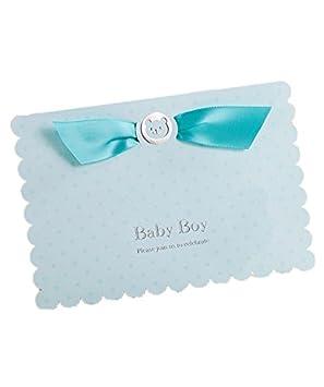 Invitaciones Tarjetas Kits para bebé bautizo celebración azul bebé Niños Baby shower de cumpleaños con sobres