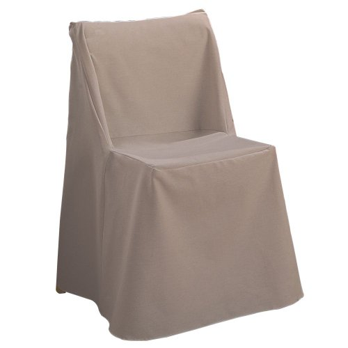 Sure Fit Cotton Duck Folding Chair Slipcover, Linen (Chair Folding Slipcover)