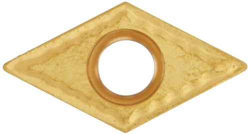 Cobra Carbide 40468 Solid Carbide Turning Insert, CM14 Grade, Multilayer Coated, DCMT Style, CM Chipbreaker, DCMT 32.51, 5/32'' Thick, 1/64'' Radius (Pack of 10) by Cobra Carbide