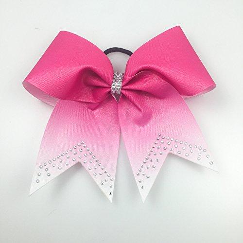 Cheer Bows Pink - Pink Bows - Ombre Cheer Bows - Cheer Bows Cheap - Rhinestone Bows - Volleyball Bows - Softball Bows - Breast Cancer Bows