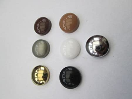 100 x Plastic Dome Screw Caps Cover Click on screw covers mirrors sanitary